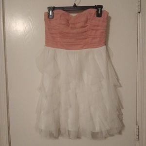 Blush and Ivory Strapless Dress